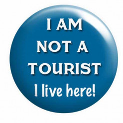 I am not a tourist badge, Quote Badges