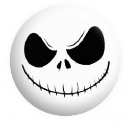 Halloween Badges, Jack Skellington Badge