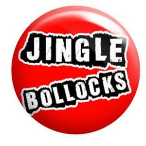 Jingle Bollocks Badge, Rude Christmas Badge