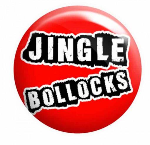 Jingle Bollocks Badge, Rude Christmas Badge