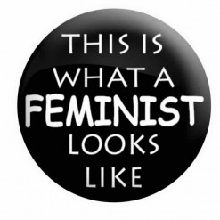 This is what a Feminist looks like badge - Black - Feminist badges, feminism badges