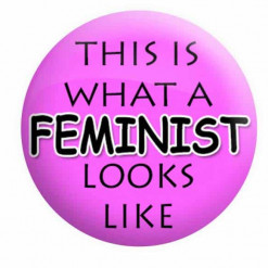 This is what a Feminist looks like badge - Pink - Feminist badges, feminism badges