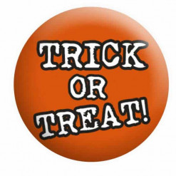 Halloween Badges, Trick or Treat Badge