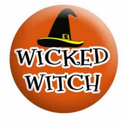 Halloween Badges, Witch Badges
