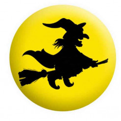 Halloween Badges, Witch Badge