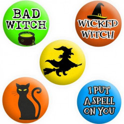 Witch Badges, Wicked Witch Badges, Hocus Pocus Badges