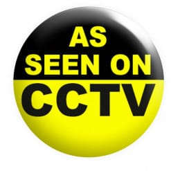 As seen on CCTV Badge, funny Badges