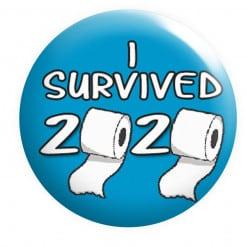 I survived 2020 Badge, Toilet Paper Shortage, Funny badges